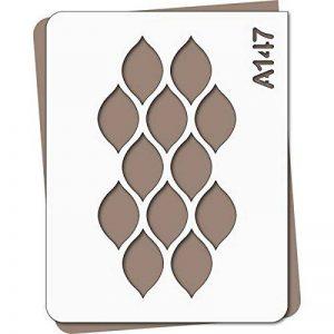 Pochoir frise géométrique - Taille L feuille 283x364 mm de la marque decopochoirs image 0 produit