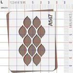 Pochoir frise géométrique - Taille L feuille 283x364 mm de la marque decopochoirs image 2 produit