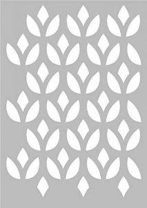Pochoir Géométrique Lotus 29,7 x 42 cm - Stencil Géométrique - Stencil Scandinave de la marque Artemio image 0 produit