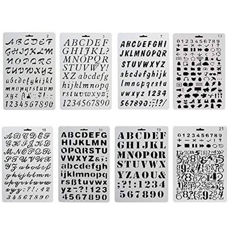 Pochoirs Bullet Journal Pochoir à Dessin 20 Pièces Plastique