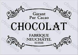 Pochoir Grand format A3, Style shabby chic français, meubles, tissu, verre, réutilisable en Mylar (58) de la marque cfsupplies image 0 produit
