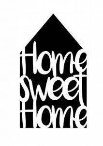 Pochoir « Home sweet Home », format A4 de la marque Viva Decor image 0 produit