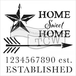 pochoir home sweet home TOP 0 image 0 produit