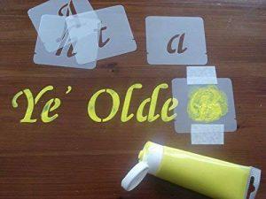 Pochoir lettres de l'alphabet lot, ensemble de pochoirs, plastique, naturel, 50 mm de la marque Artstencils image 0 produit