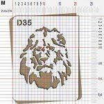 Pochoir lion - Taille M feuille 210x270 mm de la marque decopochoirs image 2 produit