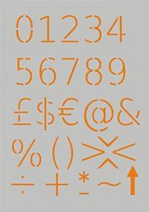 Pochoir modèle pour projets de bricolage/chiffres Design de la marque Krea-Wood image 0 produit
