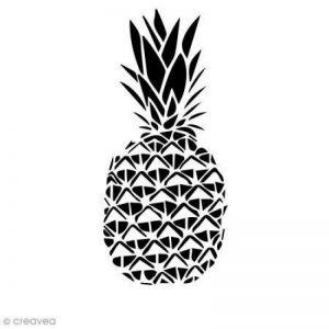 Pochoir multiusage A4 - Ananas ajouré - 1 planche de la marque Creavea image 0 produit