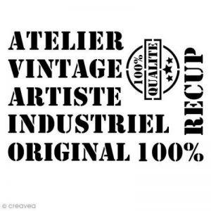 Pochoir multiusage - Vintage - A4 (21 x 29,7 cm) de la marque Creavea image 0 produit