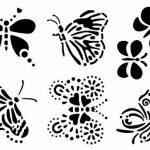pochoir papillon TOP 2 image 1 produit