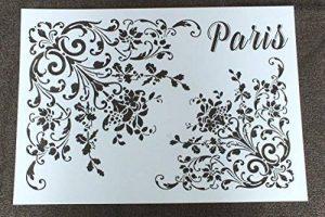 Pochoir plastique Vintage Paris Format A4 29,7cm x 21 cm de la marque Boutique d'isacrea image 0 produit