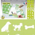 Pochoir pour enfant 7 x 7,5 cm Chien et chat - Graine créative de la marque MTD image 1 produit