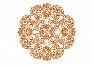 Pochoir pour projets de bricolage, motif dentelle A4297x 210mm de la marque Krea-Wood image 0 produit