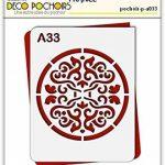 Pochoir rosace Russie - Taille S feuille 140x180 mm de la marque decopochoirs image 1 produit