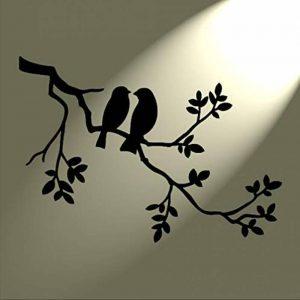 Pochoir Shabby Chic 2 oiseaux arbre Mylar. Vintage style rustique Format A4 297 x 210 mm Décoration murale de la marque Solitarydesign image 0 produit