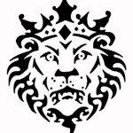 Pochoir Shabby chic, avec tête de lion couronne Vintage en Mylar A4 297 x 210 mm Meuble art de la marque Solitarydesign image 1 produit