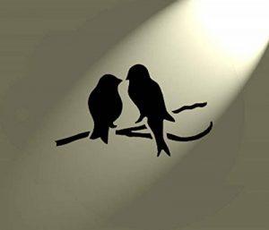 Pochoir Shabby Chic Motif oiseaux sur une branche en Mylar Vintage style rustique Format A4 297 x 210 mm Décoration murale de la marque Solitarydesign image 0 produit