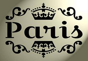 Pochoir Style shabby chic Paris avec couronne Fleurs Vintage en Mylar A4297x 210mm Meubles mur Art de la marque Solitarydesign image 0 produit