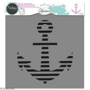 Pochoir textile Aladine - Encre marine - 28 x 28 cm de la marque Aladine image 0 produit