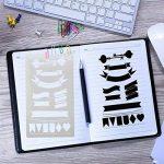 Pochoirs à Dessin Pour Bullet Journal/Carnet De Notes/Agenda/Scrapbooking/DIY et Projets Artistiques 4X7 Inch( 20 Pièces) de la marque KenSpirit image 2 produit