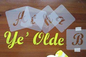 Pochoirs, ensemble de pochoirs lettres., plastique, 40 mm de la marque Artstencils image 0 produit