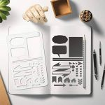 Pochoirs pour signes journalistiques Aoyooh -Règle à modèles de dessin pour décorer carnet, calendrier, agenda, cahiers Leuchtturm et A5-Adapté pour marqueurs à pointe fine (12 pochoirs pour journal) de la marque Aoyooh image 1 produit