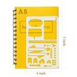 Pochoirs pour signes journalistiques Aoyooh -Règle à modèles de dessin pour décorer carnet, calendrier, agenda, cahiers Leuchtturm et A5-Adapté pour marqueurs à pointe fine (12 pochoirs pour journal) de la marque Aoyooh image 3 produit