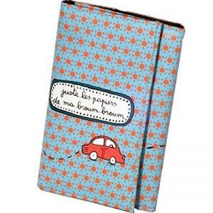 Porte-papiers voiture Toutes directions - orange/bleu - Derrière la porte de la marque Derrière la porte image 0 produit