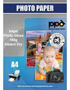 PPD A4 Jet d'encre papier photo brillant 180 g/m² pour HP Canon Epson Lexmark Brother - 50 feuilles de la marque PPD image 0 produit