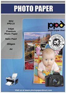 PPD A4 Jet d'encre Papier Photo Satiné - Microporeuse Super Premium - 280 g/m² X 100 feuilles de la marque PPD image 0 produit