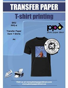 PPD A4 Jet d'encre Papier transfert application avec un fer à repasser pour T Shirt foncé x 20 Feuilles PPD-4-20 de la marque PPD image 0 produit
