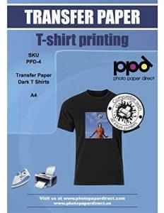 PPD A4 Jet d'encre Papier transfert application avec un fer à repasser- Transferts pour T Shirt/tissu foncé x 100 Feuilles PPD-4-100 de la marque PPD image 0 produit