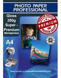 PPD A4 Jet d'encre premium papier photo super brillant 280 g/m ² - 50 feuilles de la marque PPD image 0 produit