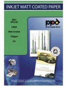 PPD DIN A3 120 g couché mat Inkjet Papier Photo Qualité x 100 feuilles de la marque PPD image 0 produit