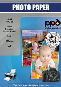PPD jet d'encre A4 papier photo satiné Pearl Premium 200 g x 50 feuilles de la marque PPD image 0 produit