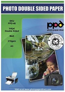 PPD Jet d'encre Mat Double Face A3210g/m² X 100feuilles Ppd-46–100 de la marque Photo Paper Direct image 0 produit