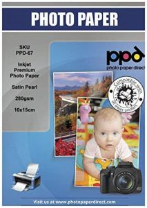 PPD Jet d'encre satiné Pearl Super Premium Papier photo 10x 15cm 280g/m² X 100feuilles Ppd-67–100 de la marque Photo Paper Direct image 0 produit