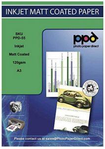 PPD Papier jet d'ancre photo mat A3, 120 g/m², 100 Feuilles de la marque Photo Paper Direct image 0 produit