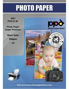 PPD, PPD-21 W-50 Jet d'encre satiné Pearl Super Premium Papier photo A4 280 g/m² X 50 feuilles de la marque Photo Paper Direct image 0 produit