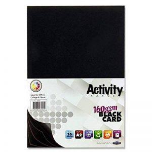Premier Papeterie 160g/m² A2carte d'activité–Noir (Lot de 20feuilles) de la marque Premier Stationery image 0 produit