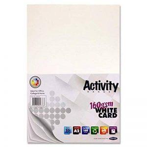 Premier papeterie A2160g/m² d'activité carte–Blanc (lot de 25feuilles) de la marque Premier Stationery image 0 produit