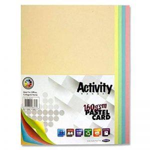 Premier Papeterie A4160g/m² Carte d'Activité–Arc-en-ciel pastel (Lot de 50feuilles) de la marque Premier Stationery image 0 produit