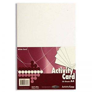 Premier Papeterie A4160g/m² Carte d'Activité–Blanc (Pack de 50feuilles) de la marque Premier Stationery image 0 produit