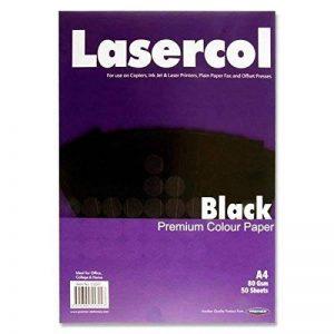 Premier Papeterie lasercol A4Papier 80g/m²–Noir (Lot de 50feuilles) de la marque Premier Stationery image 0 produit