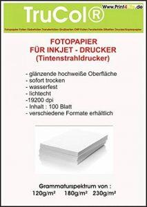 Premium Photo Paper 300 feuilles A4 230g / m² très lustré haute brillance imperméable à l'eau de la marque trucol image 0 produit