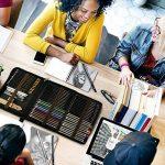 Professionnel Colore Crayons de Dessin Art Set - Malette dessin Inclus pastel, aquarelle, dessin, Charbon de bois,métallique crayons de couleur et materiel dessin,Idéal Cadeaux pour Artiste Adulte Enfant de la marque Zzone image 3 produit