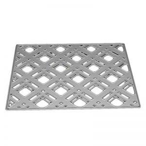 Providethebest Arrière-plan Cadre Checkered Pochoirs bricolage scrapbooking carbone de coupe en acier Dies gaufrer du papier Moisissures de la marque Provide The Best image 0 produit
