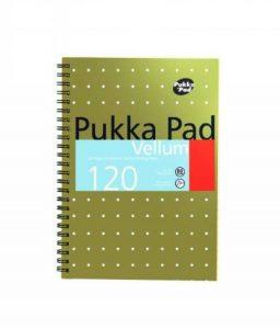 Pukka Pads Réf VJM/2 Cahier en papier vélin Reliure intégrale Ligné, perforé 80 g/m² 120 pages A5 Lot de 3 (Import Royaume Uni) de la marque Pukka image 0 produit