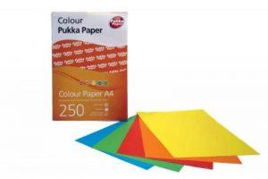 Pukka Ramette papier couleur 80 g/m² A4 250 feuilles Couleurs assorties : citron, safran, rouge, vert, turquoise (Import Royaume Uni) de la marque Pukka image 0 produit