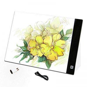 Quanjucheer A4LED Dessin Tablette carte mère, carte graphique copie Coussinets Peinture Tablette numérique Non-dimmable blanc de la marque quanjucheer image 0 produit