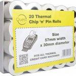 Quest Lot de 20 rouleaux de Papier thermique de puce : 57 mm x 30 mm-Compatible avec toutes les Machines à carte bancaire thermique de la marque Quest image 1 produit